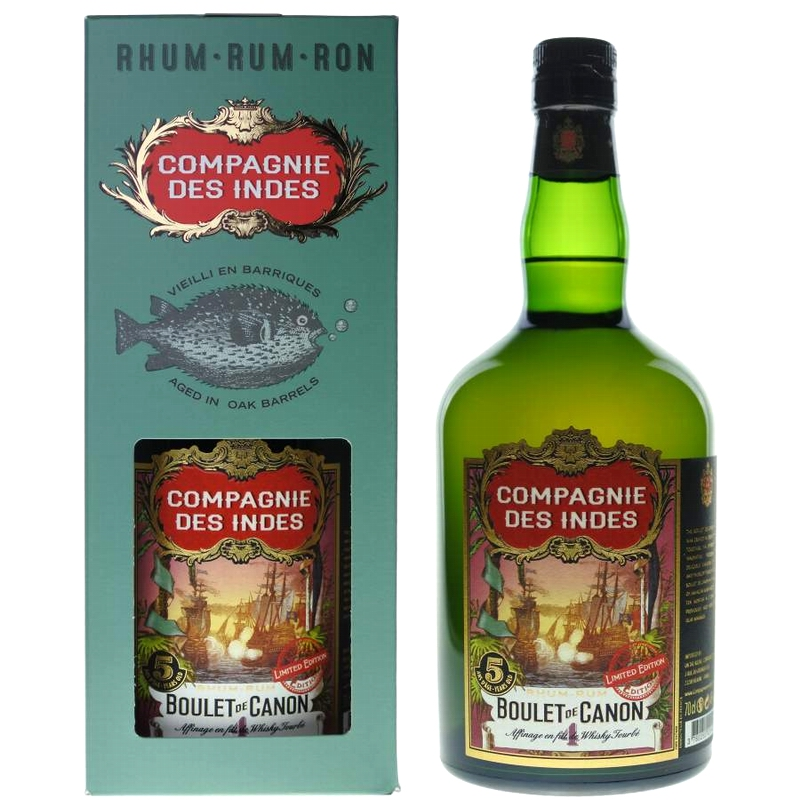 COMPAGNIE DES INDES Boulet de Canon No 4 Peated Whisky Casks