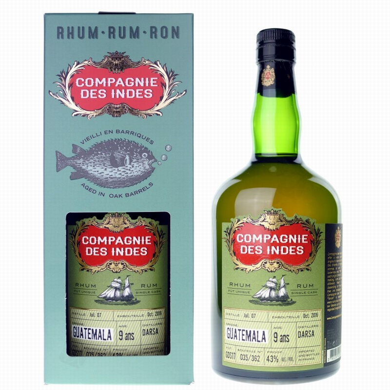 COMPAGNIE DES INDES Guatemala DARSA 9 Years Single Cask