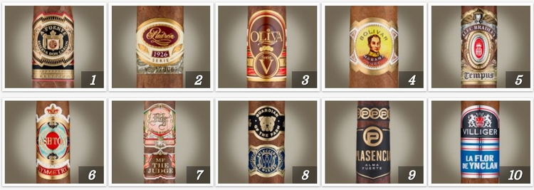 Cigar Aficionado TOP 25 CIGARS OF 2017 - 1