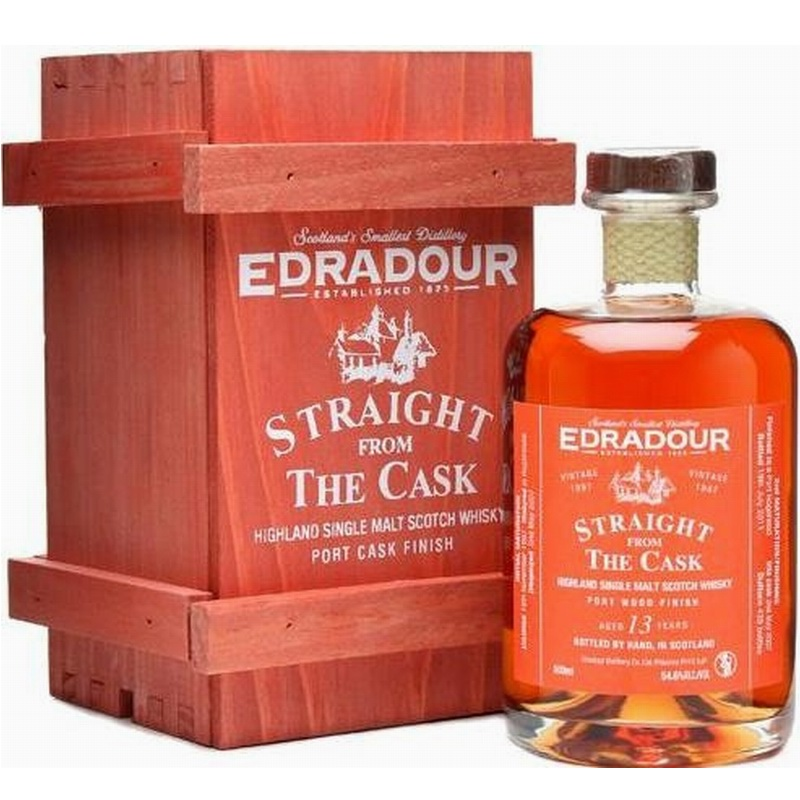 "EDRADOUR 2001 straight from the Cask ""Port wood finish"""