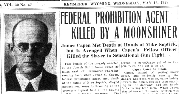 Federal Prohibition Agent Killed