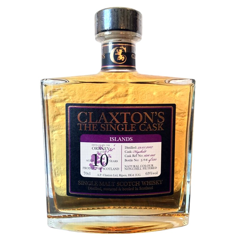 HIGHLAND PARK 2007 10 Years Claxton's The Single Cask Orkney Malt