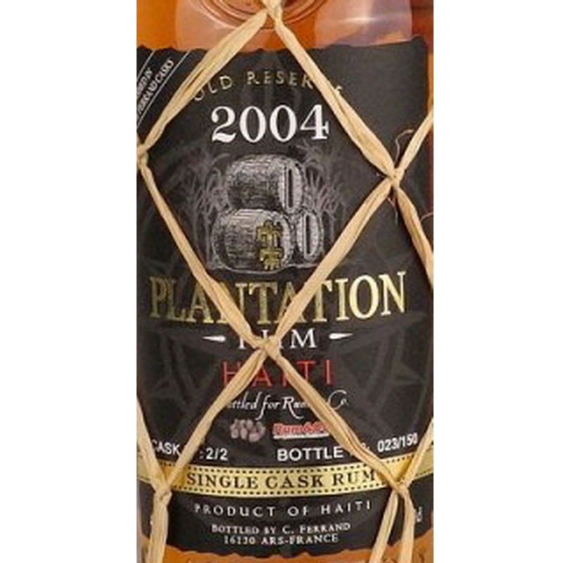PLANTATION RUM Haiti Vintage 2004 Single Cask