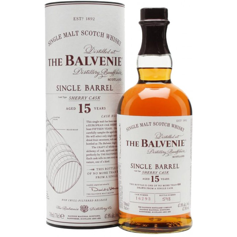 THE BALVENIE 15 Years Single Barrel Sherry Cask