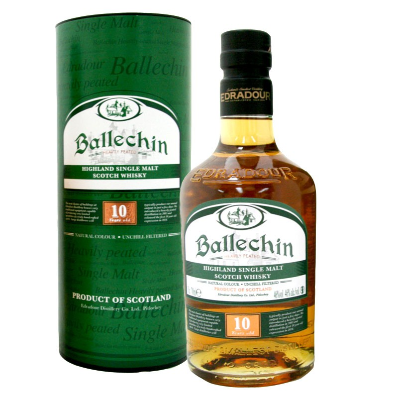 EDRADOUR Ballechin 10 Years Peated