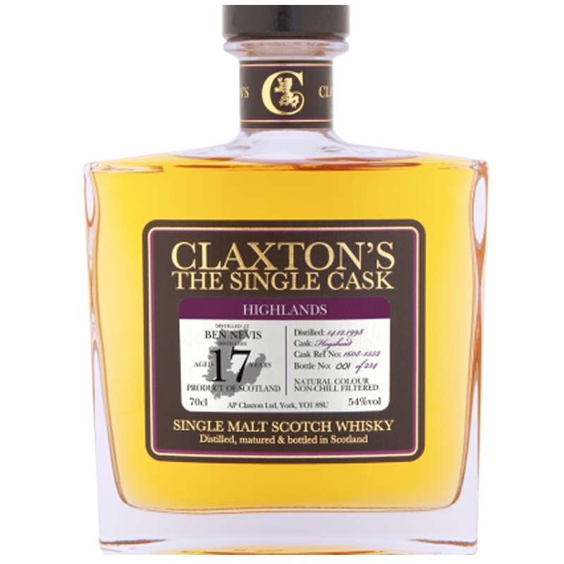 BEN NEVIS 1998 17 Years Claxton's The Single Cask