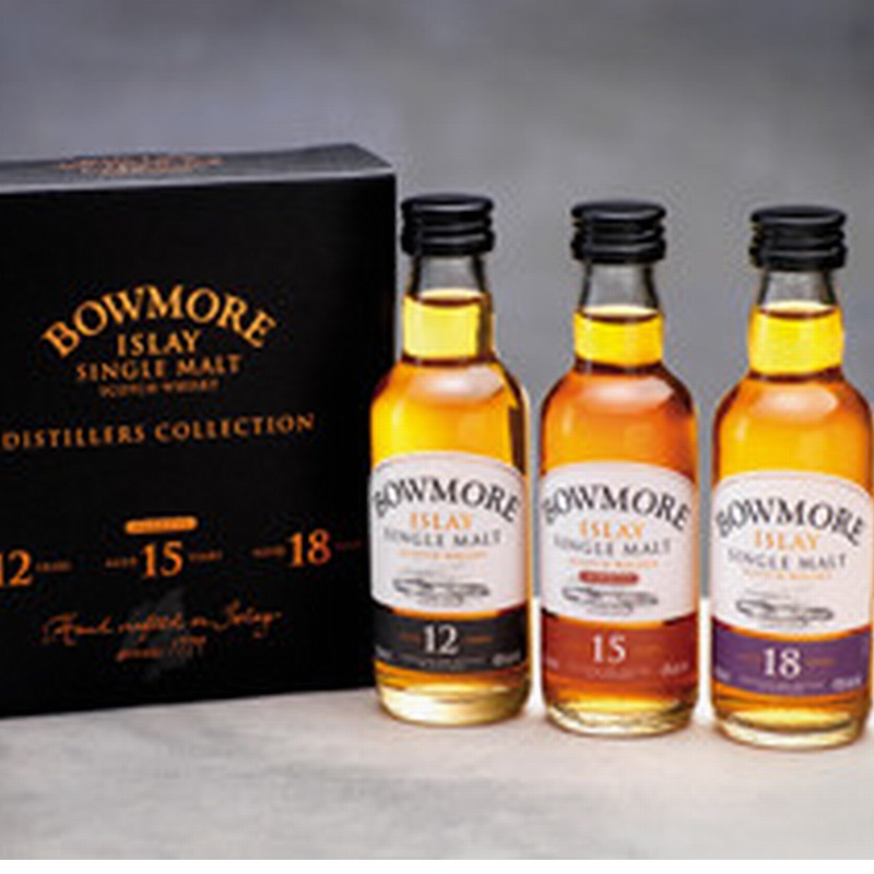 BOWMORE Miniature Gift Pack 12,15,18 Years zu 5cl