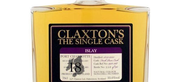 BRUICHLADDICH Port Charlotte 2001 18 Years Claxton's The Single Cask