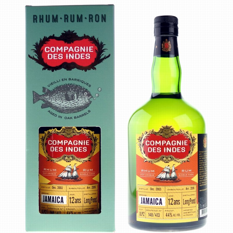 COMPAGNIE DES INDES Jamaica Longpound 12 Years Single Cask