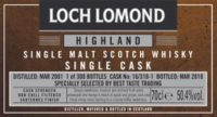 LOCH LOMOND 2001 2018 Sauternes Single Cask