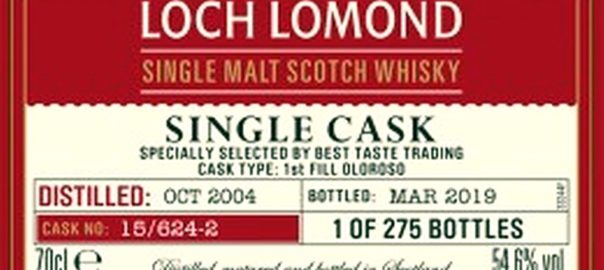 LOCH LOMOND 2004 2019 Sherry Single Cask 1st Fill