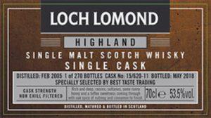 LOCH LOMOND 2005 2018 Sherry Single Cask 1st Fill