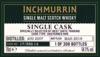 LOCH LOMOND Inchmurrin 2007 2019 Single Cask