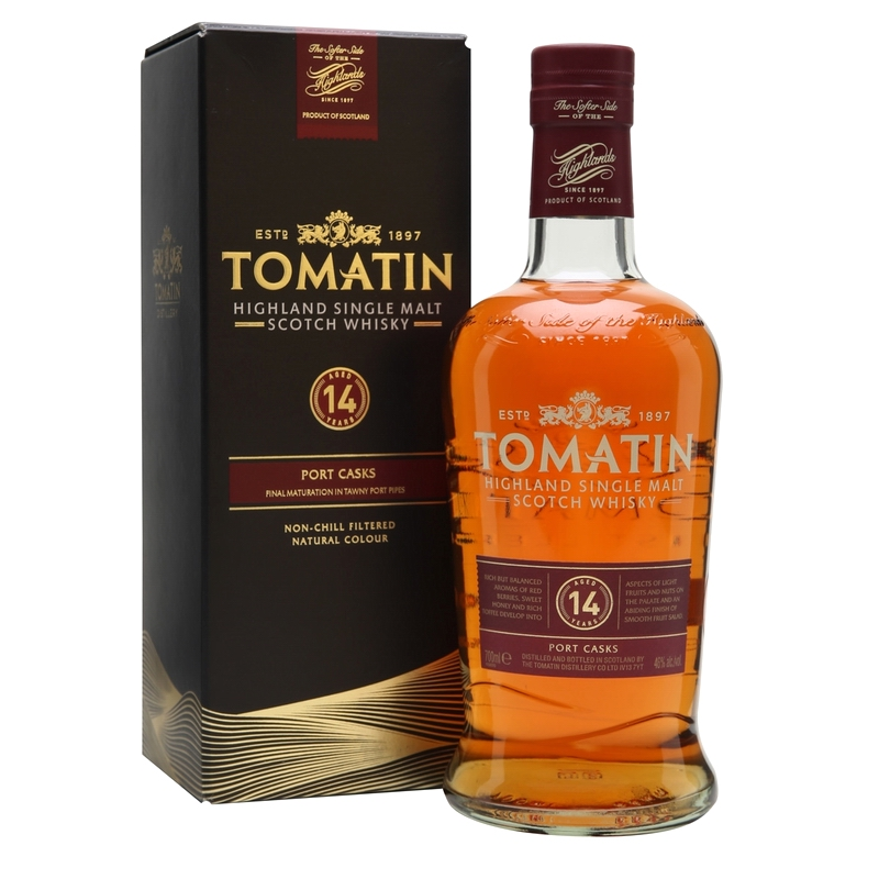 TOMATIN 14 Years Port Wood Finish