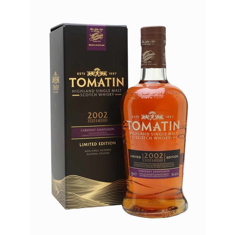 TOMATIN 2002 14 Years Cabernet Sauvignon Cask Finish