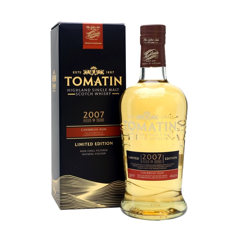 TOMATIN 2007 9 Years Caribbean Rum Cask