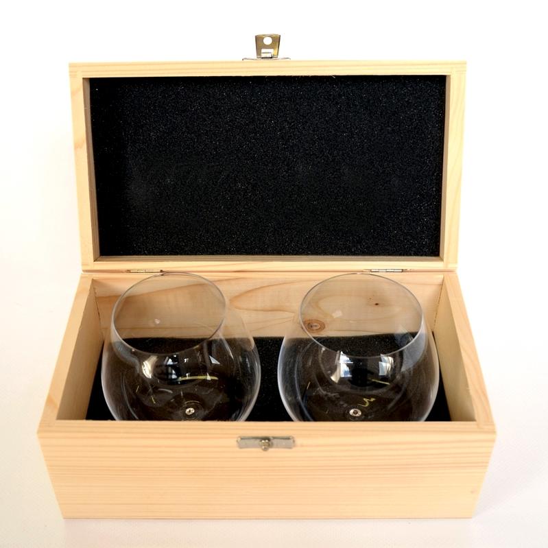 WUMBLER Holzbox mit 2 Gläsern