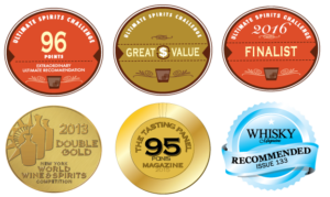 YELLOW ROSE Rye Whiskey medals